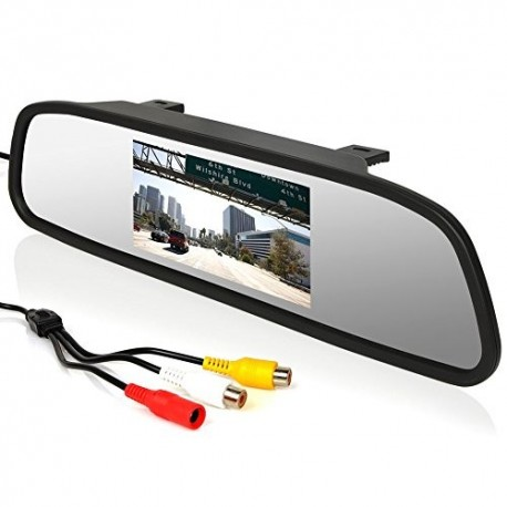 Parkavimo sistema veidrodyje su integruotu 4.3 colio ekranu